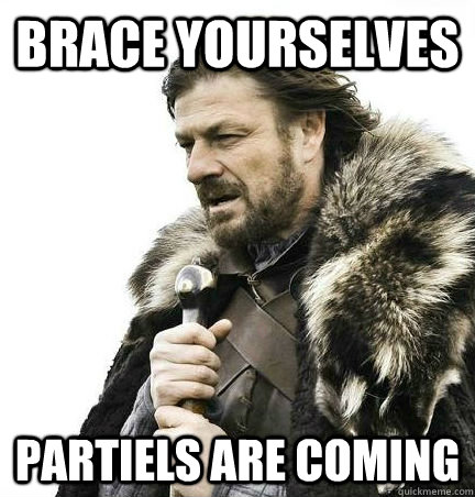 Brace Yourselves Partiels are coming