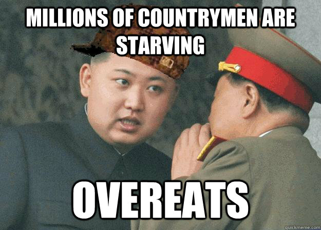 Millions of countrymen are starving overeats