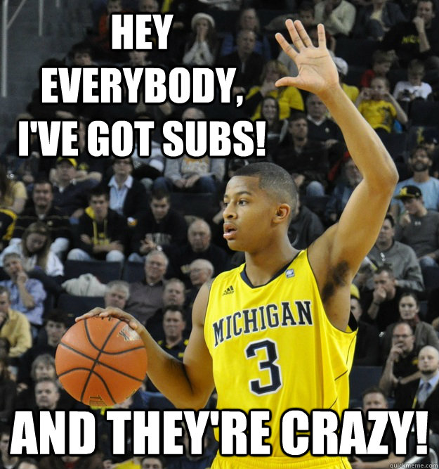 hey everybody, i've got subs! and they're crazy!