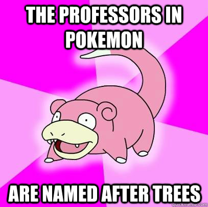The professors in pokemon are named after trees - The professors in pokemon are named after trees  Slowpoke