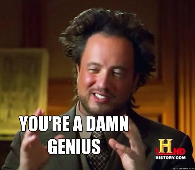 Youre A Genius Meme you re a damn genius