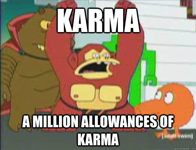 Karma A Million Allowances of Karma - Karma A Million Allowances of Karma  Futurama DK