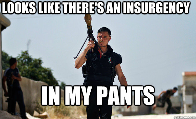 Looks like there's an insurgency in my pants - Looks like there's an insurgency in my pants  Misc