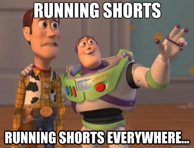 Image result for running shorts meme