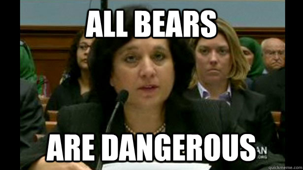 All bears are dangerous
