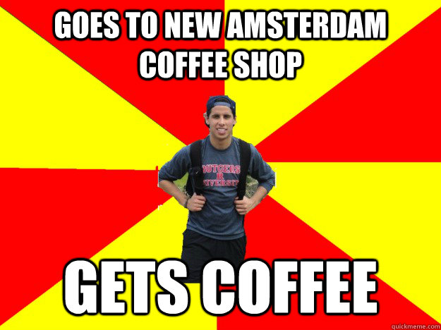 Goes to New Amsterdam Coffee Shop GETS COFFEE - Goes to New Amsterdam Coffee Shop GETS COFFEE  The Silly Tourist 1