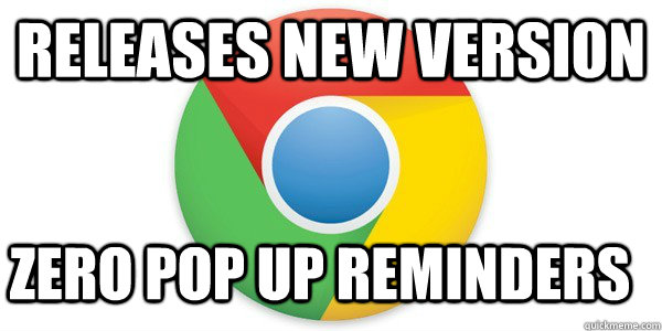 releases new version zero pop up reminders