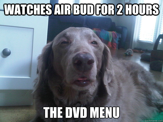 watches air bud for 2 hours the dvd menu - watches air bud for 2 hours the dvd menu  10 Dog