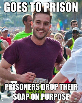 Goes to prison Prisoners drop their soap on purpose - Goes to prison Prisoners drop their soap on purpose  Ridiculously photogenic guy