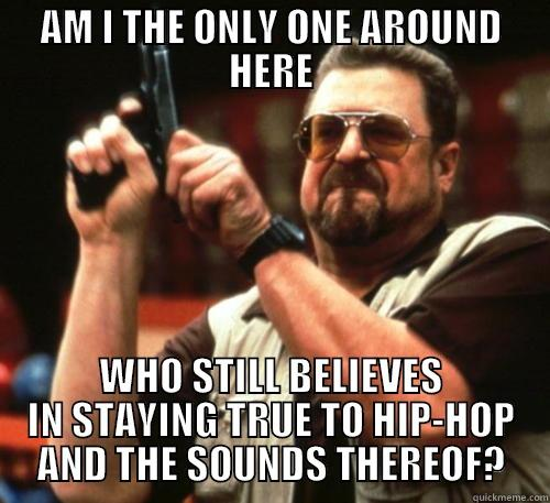 AM I THE ONLY ONE AROUND HERE WHO STILL BELIEVES IN STAYING TRUE TO HIP-HOP AND THE SOUNDS THEREOF? Am I The Only One Around Here