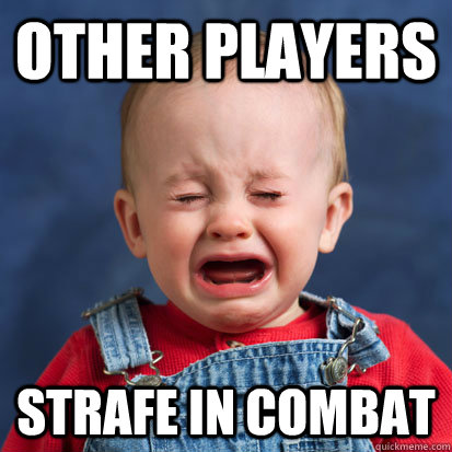 other players strafe in combat