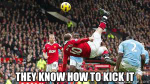 They know how to kick it  ROONEY KICK