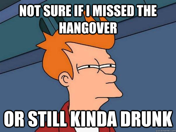 Not sure if i missed the hangover or still kinda drunk - Not sure if i missed the hangover or still kinda drunk  Futurama Fry