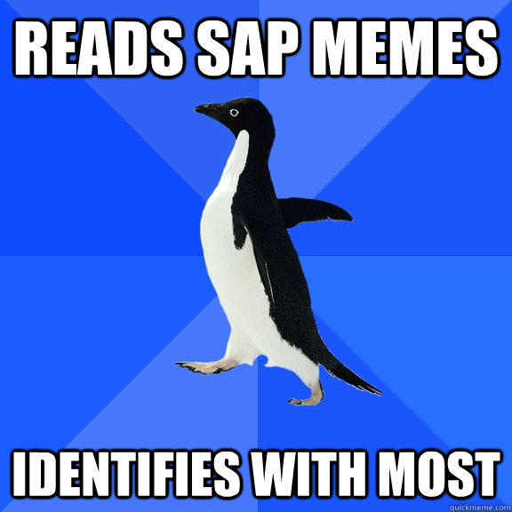 Reads SAP memes Identifies with most