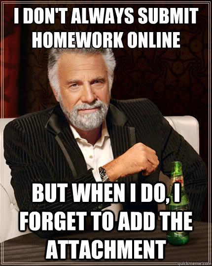 Submit homework online