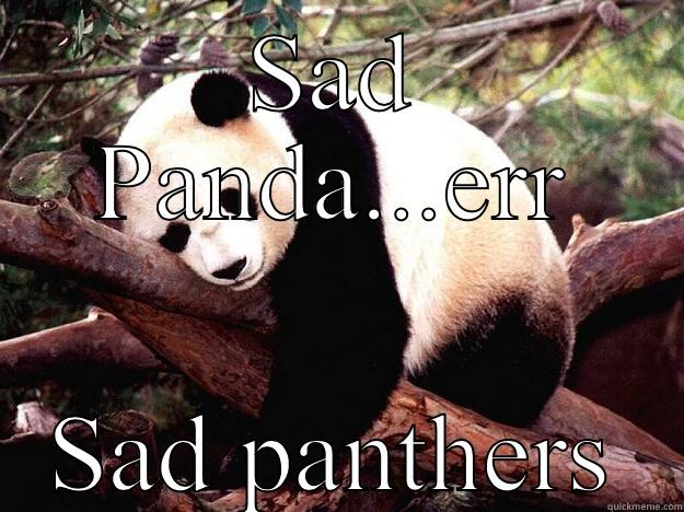 SAD PANDA...ERR SAD PANTHERS Procrastination Panda
