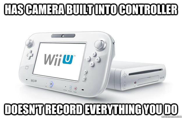 Has Camera Built into controller Doesn't record everything you do
