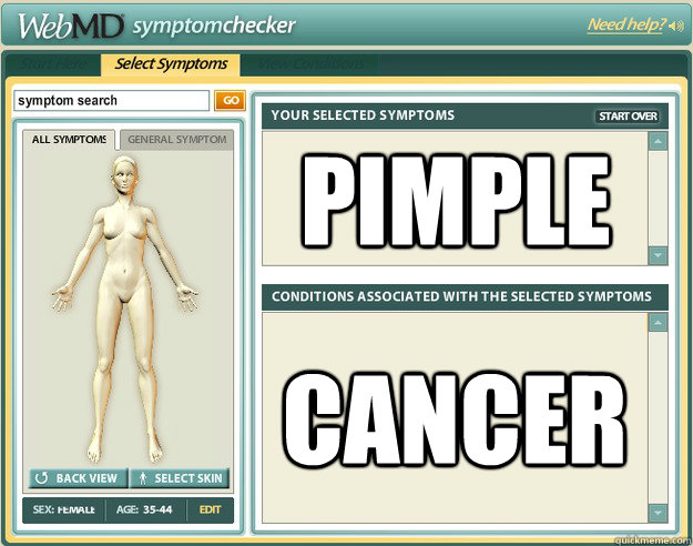 pimple cancer - pimple cancer  Scumbag WebMD
