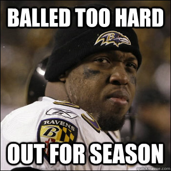 Balled TOO HARD Out for Season  Terrell Suggs