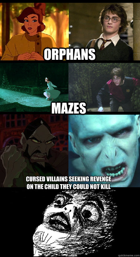 Orphans mazes cursed villains seeking revenge  on the child they could not kill  Anastasia and Harry Potter - Coincidence