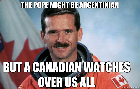 The pope might be Argentinian But a Canadian watches over us all