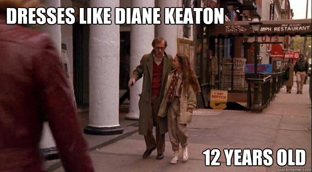 Dresses like Diane Keaton 12 years old