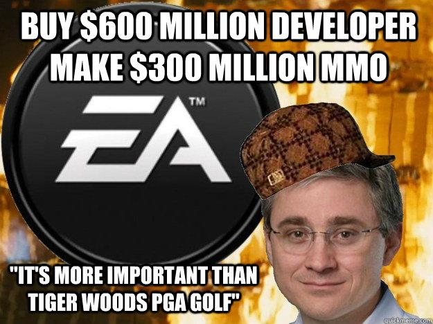 Buy $600 million developer make $300 million MMO
