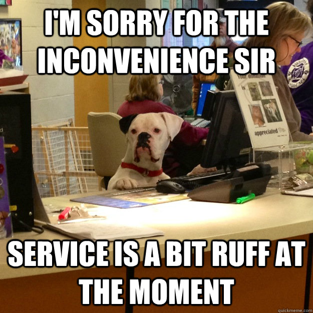 I'm sorry for the inconvenience sir Service is a bit ruff at the moment