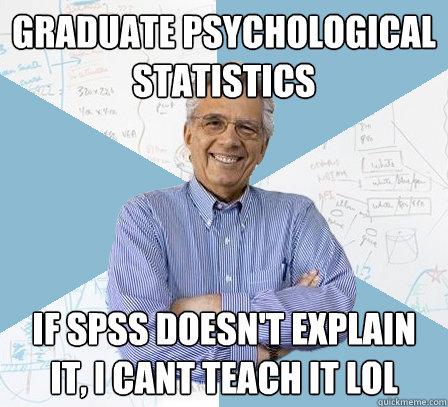 Graduate Psychological Statistics If Spss Doesnt Explain It I Cant