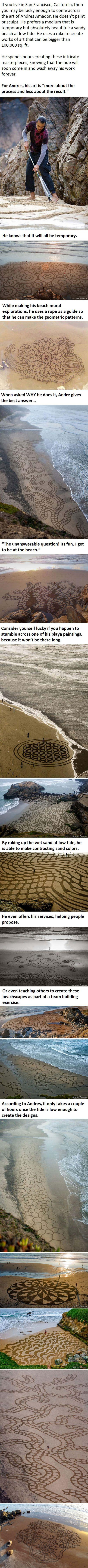 What This Guy Does At The Beach Is Absolutely Stunning... -   Misc