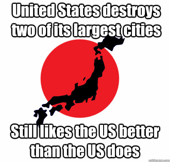 United States destroys two of its largest cities Still likes the US better than the US does