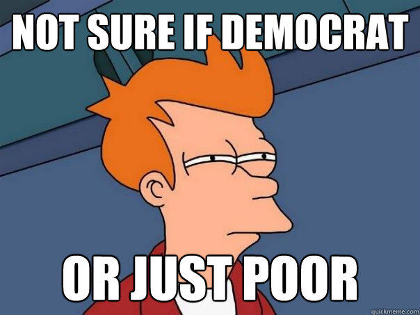 Not Sure if Democrat or just poor - Not Sure if Democrat or just poor  Futurama Fry
