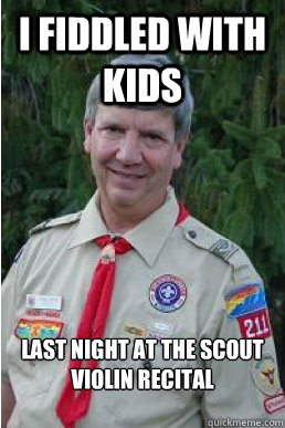 I fiddled with kids last night at the scout violin recital - I fiddled with kids last night at the scout violin recital  Harmless Scout Leader