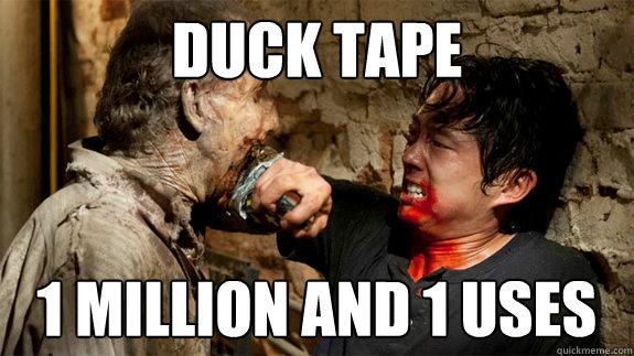 duck tape 1 million and 1 uses  Glenn Walking Dead