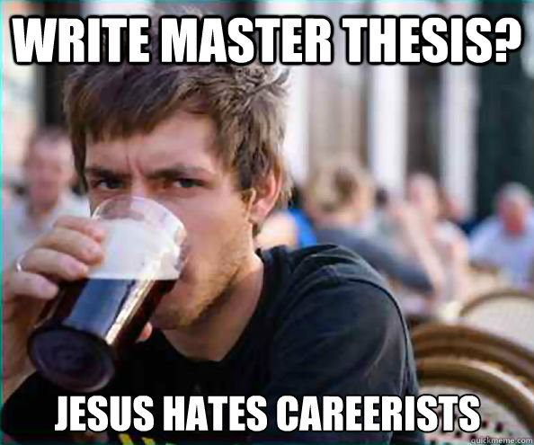 Master thesis funny