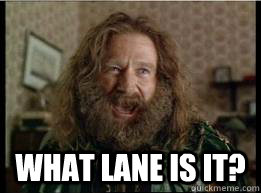 What lane is it? -  What lane is it?  What year is it