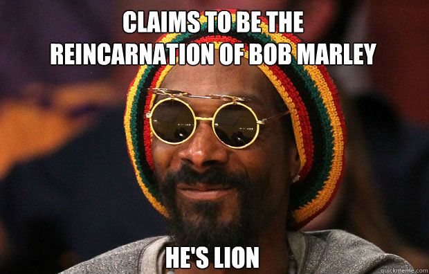 Claims to be the reincarnation of bob marley He's Lion