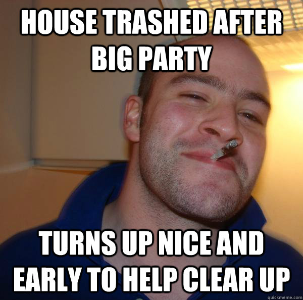 House trashed after big party turns up nice and early to help clear up - House trashed after big party turns up nice and early to help clear up  Misc