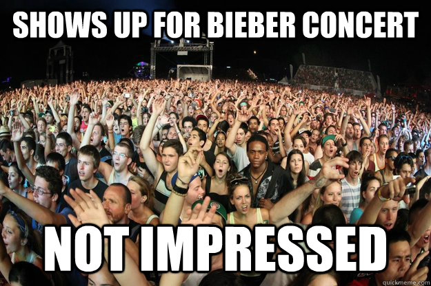 Shows up for Bieber Concert Not impressed - Shows up for Bieber Concert Not impressed  Token Black Guy