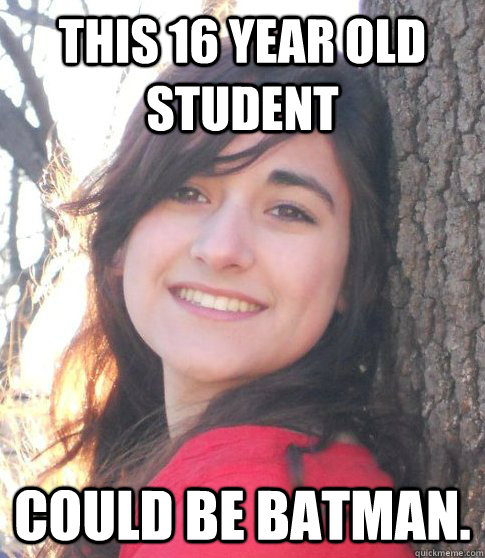 This 16 year old student Could be Batman.