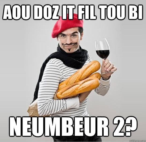 aou doz it fil tou bi Neumbeur 2?