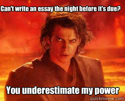 Can't write my essay