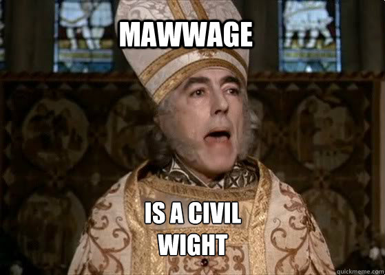 Mawwage is a civil wight