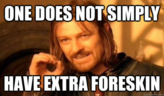 One Does Not Simply Have extra foreskin - One Does Not Simply Have extra foreskin  Boromir Fact 420