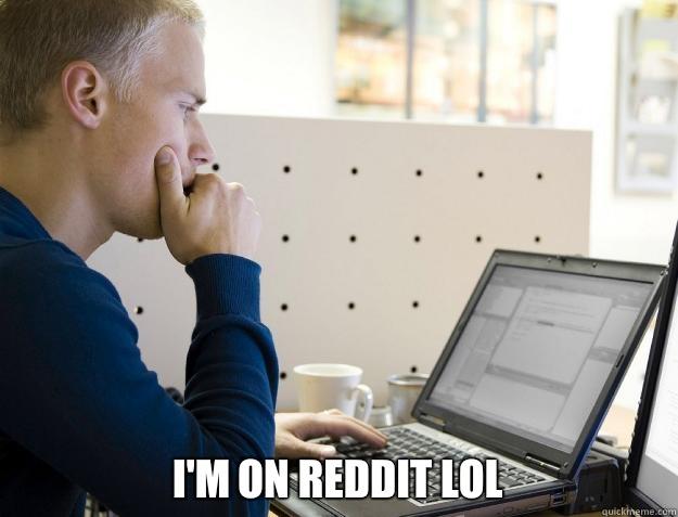 I'M ON REDDIT LOL -  I'M ON REDDIT LOL  Programmer