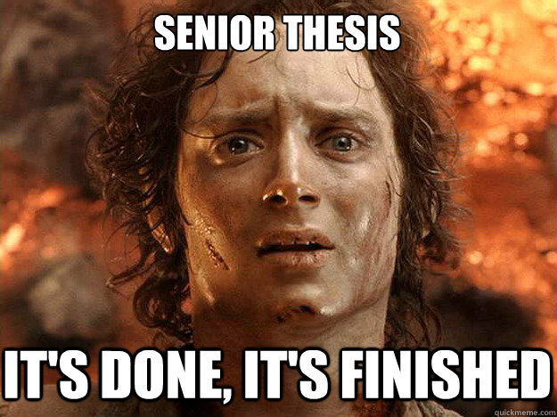 Thesis and dissertation accomplished