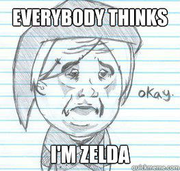 Everybody thinks I'm Zelda  Okay Link