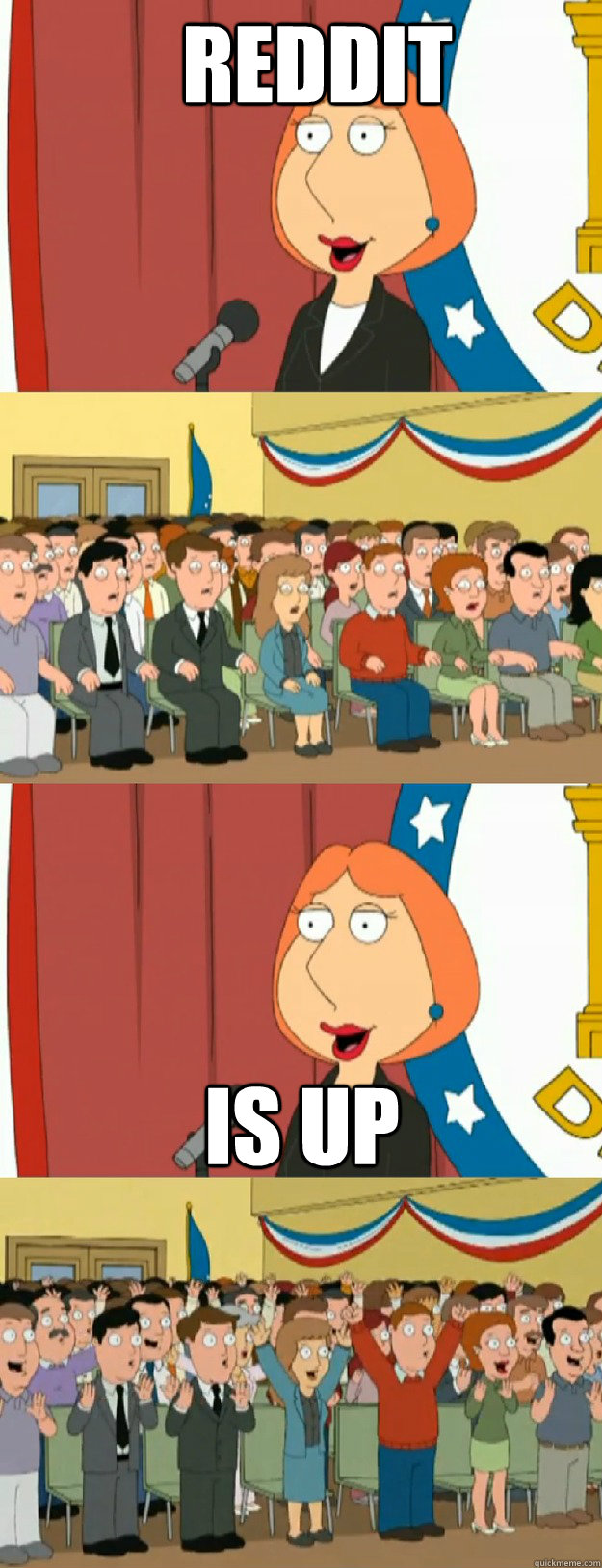 reddit is up - reddit is up  Lois Griffin