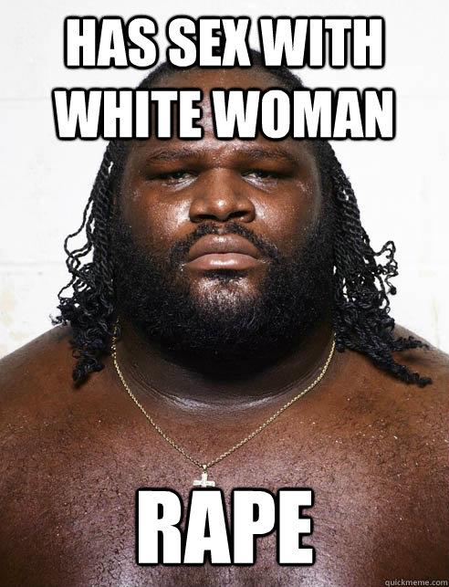 Black man raping white woman