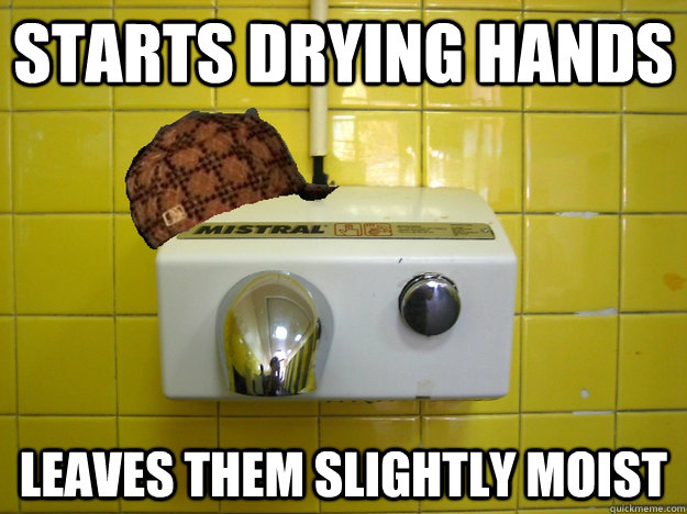 Starts drying hands leaves them slightly moist